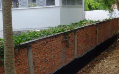 Estructura de filtro francés le dará estabilidad a muro de la institución educativa Club Unión, sede D