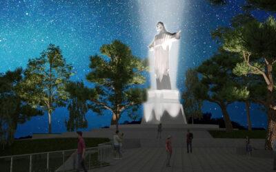 El Cristo del Sagrado Corazón del Parque Morrorico brillará con una imponente iluminación