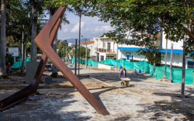 Alcaldía de Bucaramanga reactivó las obras en la Calle de las Letras, junto a la Biblioteca Gabriel Turbay