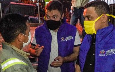 Con el apoyo del cuerpo Oficial de Bomberos de Bucaramanga se surtió de agua el barrio Buenavista