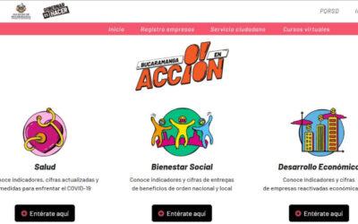 Consulte cifras de salud, bienestar social y desarrollo económico en emergencia.bucaramanga.gov.co