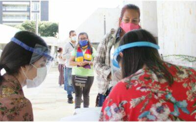 Alcaldía equipó de elementos de protección personal a informales del Plan Maestro de Espacio Público