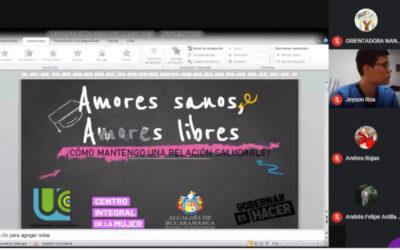 Estudiantes de 'Medalla Milagrosa' participaron en primer taller virtual de la estrategia 'Amores sanos, amores libres'
