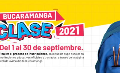 4.820 personas ya se inscribieron para acceder a un cupo escolar en instituciones educativas oficiales de Bucaramanga