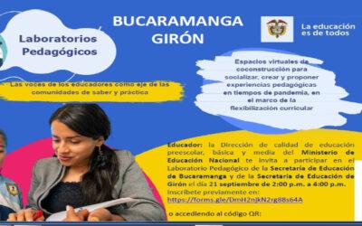 Secretarías de Educación de Bucaramanga tendrá un 'laboratorio pedagógico' para escuchar las voces de sus educadores