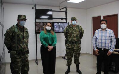 Alcaldía fortalece la seguridad con la instalación de herramientas tecnológicas en el Cantón Militar Batalla de Palonegro