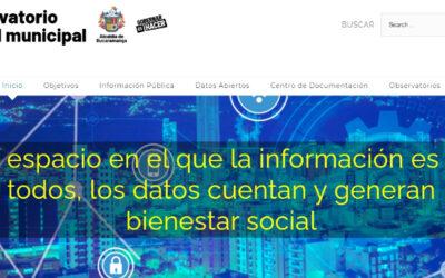 Navegue en el Observatorio Digital Municipal y consulte datos estadísticos de despachos e institutos descentralizados