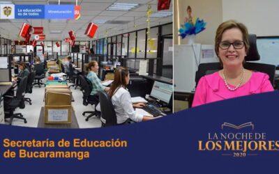 En 'La Noche de los Mejores', Secretaría de Educación de Bucaramanga recibió reconocimientos en las categorías de Inclusión y Equidad y en la Generación E