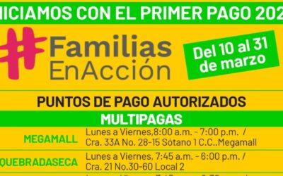 Se inició el primer pago de Familias en Acción en Bucaramanga
