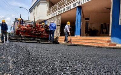 Se recuperó la malla vial en el sector de la Plaza Satélite