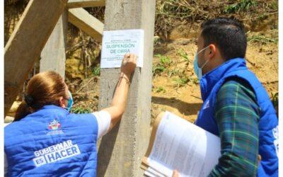 Alcaldía ha suspendido 16 obras ilegales en el sector del 20 de Julio