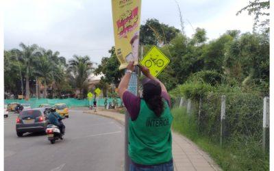 Más de 500 avisos de publicidad ilegal han sido desmontados por la Alcaldía