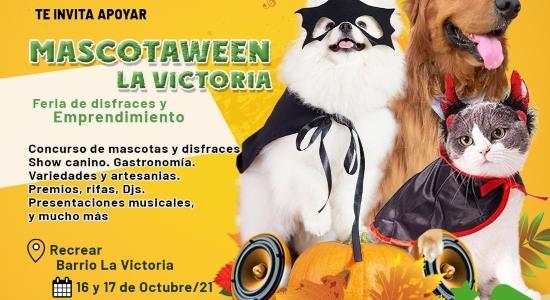Viva este fin de semana, en La Victoria, la Feria de Disfraces y Emprendimiento 'Mascotaween'