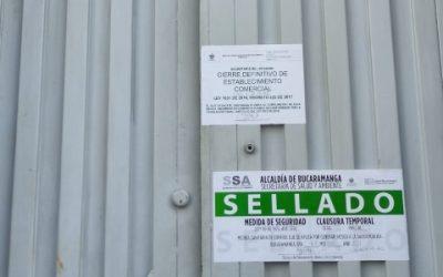 Se selló centro de rehabilitación en Bucaramanga